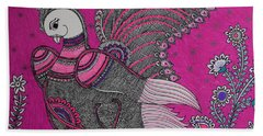 Peacock_pink Hand Towel