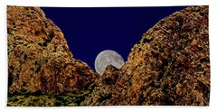 Hand Towel featuring the photograph Peak Full Moon H03 by Mark Myhaver