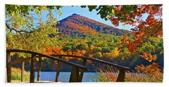 Peaks Of Otter Bridge Hand Towel