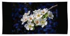Pear Blossoms And Georgia Blue 1 Hand Towel by Brooks Garten Hauschild