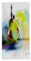 Hand Towel featuring the digital art Pear Digital Abstract by Frank Bright
