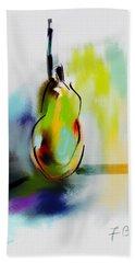 Bath Towel featuring the digital art Pear Digital Abstract by Frank Bright