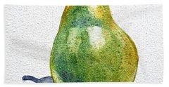 Pear Hand Towel by Irina Sztukowski