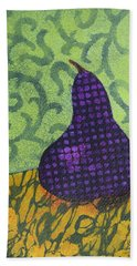 Pear Patterns Bath Towel by Nancy Jolley