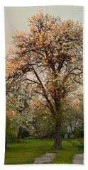 Pear Spring Sunrise Bath Towel by Henryk Gorecki