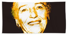 Hand Towel featuring the digital art Pearl Buck by Asok Mukhopadhyay