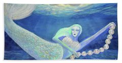 Pearl Of The Sea Hand Towel by Lyric Lucas
