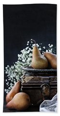 Pears And Baby's Breath Hand Towel