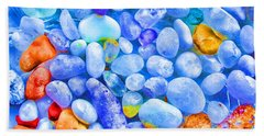 Hand Towel featuring the photograph Pebble Delight by Andreas Thust
