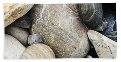 Hand Towel featuring the photograph Pebbles And Rocks by Art Block Collections