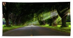 Bath Towel featuring the photograph Pecan Alley Rays - Arkansas - Landscape by Jason Politte