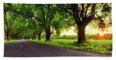 Bath Towel featuring the photograph Pecan Alley Sunrise - Scott Arkansas - Landscape by Jason Politte