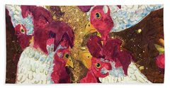 Pecking Order Hand Towel by Jame Hayes