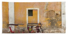 Bath Towel featuring the photograph Pedicabs At Convento De Santa Clara Havana Cuba by Charles Harden