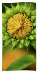 Peek-a-boo Sunflower Hand Towel