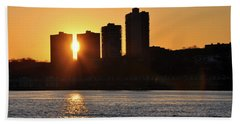 Hand Towel featuring the photograph Peekaboo Sunset by Sarah McKoy