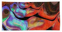 Peeling Back The Layers Hand Towel by Kathie Chicoine