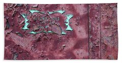 Hand Towel featuring the photograph Peeling Door Abstract by Stuart Litoff