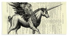 Pegasus Black And White Bath Towel