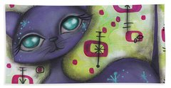 Peggy Cat Bath Towel by Abril Andrade Griffith