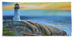 Peggy's Cove Sunset Bath Towel