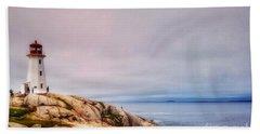 Peggys Point Lighthouse Bath Towel