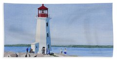 Peggy's Point Lighthouse Hand Towel by Mike Robles
