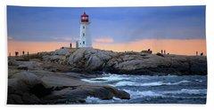 Peggy's Point Lighthouse, Nova Scotia, Canada Hand Towel