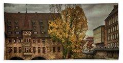 Pegnitz, Nuremberg, Germany Hand Towel by Jim Pavelle