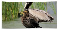 Pelican And Twins Bath Towel