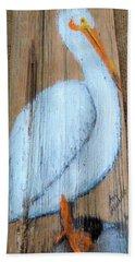 Pelican Hand Towel by Ann Michelle Swadener