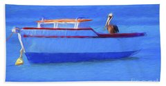 Pelican In Aruba Hand Towel by George Robinson