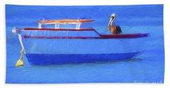 Pelican In Aruba Bath Towel
