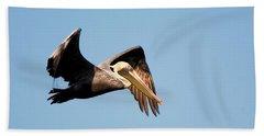 Pelican In Flight Bath Towel
