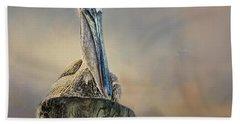 Pelican In Paradise Bath Towel