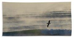 Pelican In Sea Smoke Hand Towel