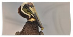 Pelican  Hand Towel by Nancy Landry