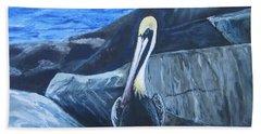 Pelican On The Rocks Bath Towel