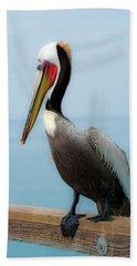 Pelican Portrait Bath Towel