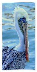 Pelican Pose Hand Towel by Shoal Hollingsworth