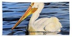Pelican Posing Hand Towel