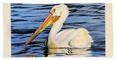 Pelican Posing Bath Towel by Marilyn McNish