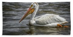 Hand Towel featuring the photograph Pelican  by Ray Congrove