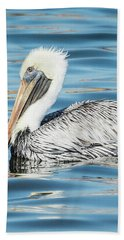 Pelican Relaxing Hand Towel by Scott and Dixie Wiley