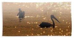 Pelican Sunrise Bath Towel
