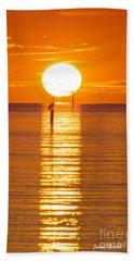 Pelican Sunset Hand Towel