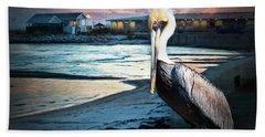 Pelican Sunset Bath Towel