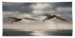 Pelicans At Sea Bath Towel