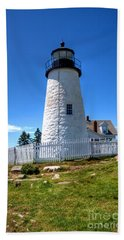 Pemaquid Point Lighthouse Bath Towel by Adrian LaRoque