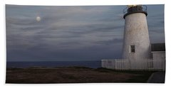 Pemaquid And Full Moon Bath Towel